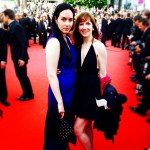 Sophie and Sam on the red carpet at Cannes