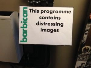 Barbican talk sign