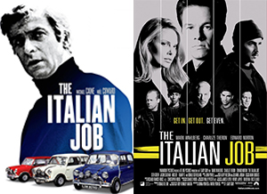 The Italian job and it's Hollywood remake
