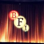 BFI logo projected onto cinema screen