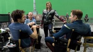 Film crew on the Avengers