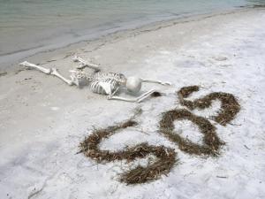 Skeleton-SOS-on-Beach