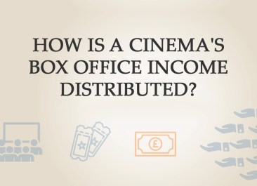 How is a cinema's box office income distributed? | Stephen