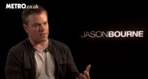 Matt Damon Metro interview