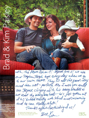 We Recently Got A Thank You Card From Brad & Kim Paisley