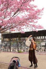 In Omekoji Park, Kyoto