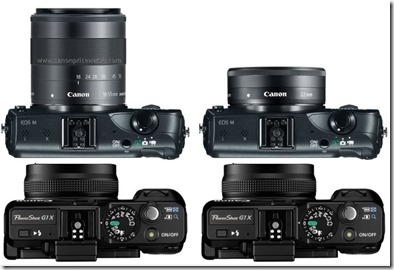 Eos M Compared with G1 X