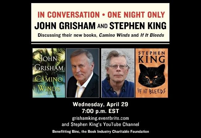 Stephen King y John Grisham juntos en un evento virtual