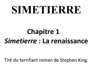 simetierre chapitre