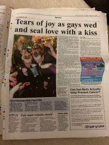 Essex Chronicle - Thursday 2nd February 2006 - Gay Marriage / Civil Partnership