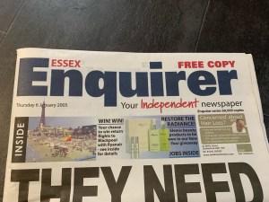 Essex Enquirer - Thursday 6th January 2005 - Stephen Robert Kuta