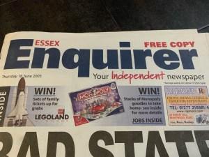 Essex Enquirer - Thursday 16th June 2005 - Stephen Robert Kuta - Paint the Sky with Stars