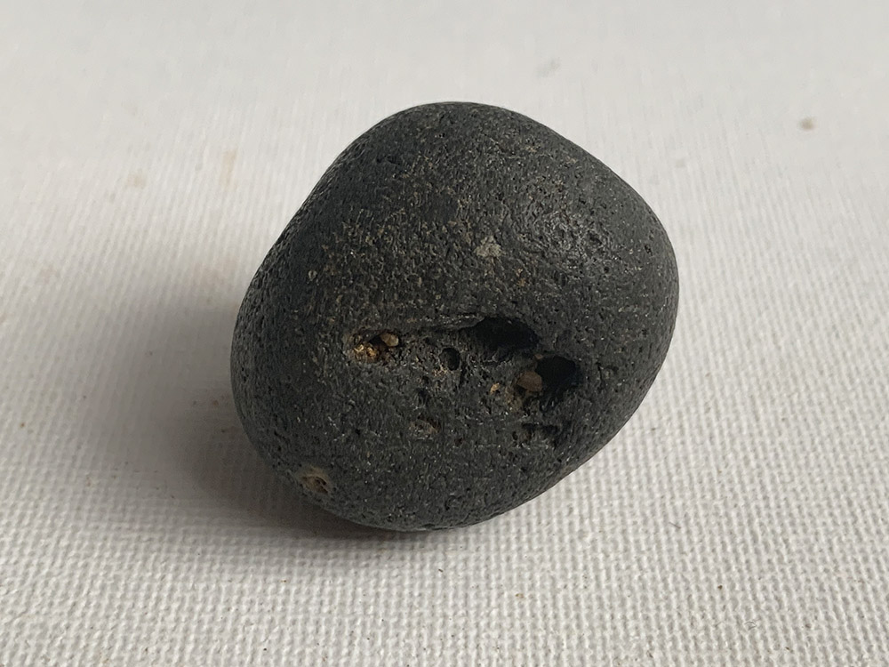 Small Black Neolithic Hammer-Stone