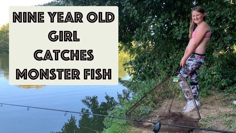 Nine year old girl, catches monster fish | Huge Carp | Fish | England | Stephen and Yhana | Vlog 25