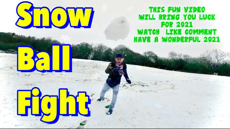 First Day of Snow   Snow Ball Fight   Watch This Fun Video for the best of luck in 2021   Vlog 39