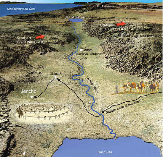 map of Jericho and Jordan River Valley