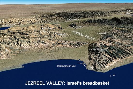 map of Jezreel Valley