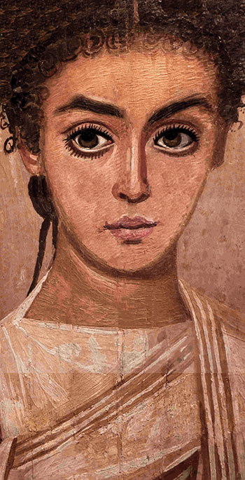 ancient painting of roman woman