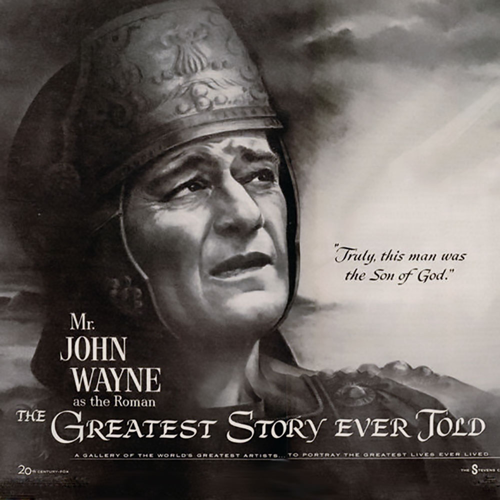 """ad of John Wayne in """"The Greatest Story Ever Told."""""""