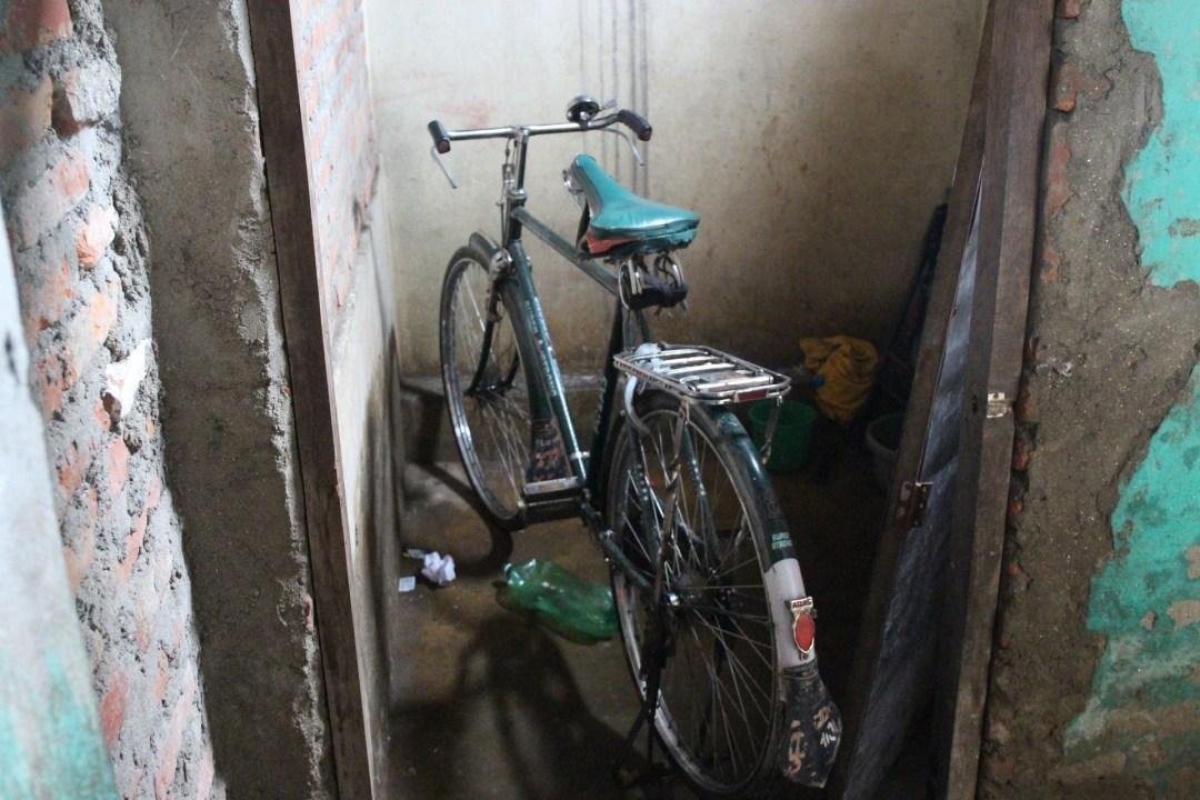 Someone brought a bike