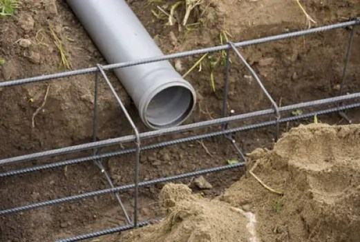 pipe and steel bars reinforcement