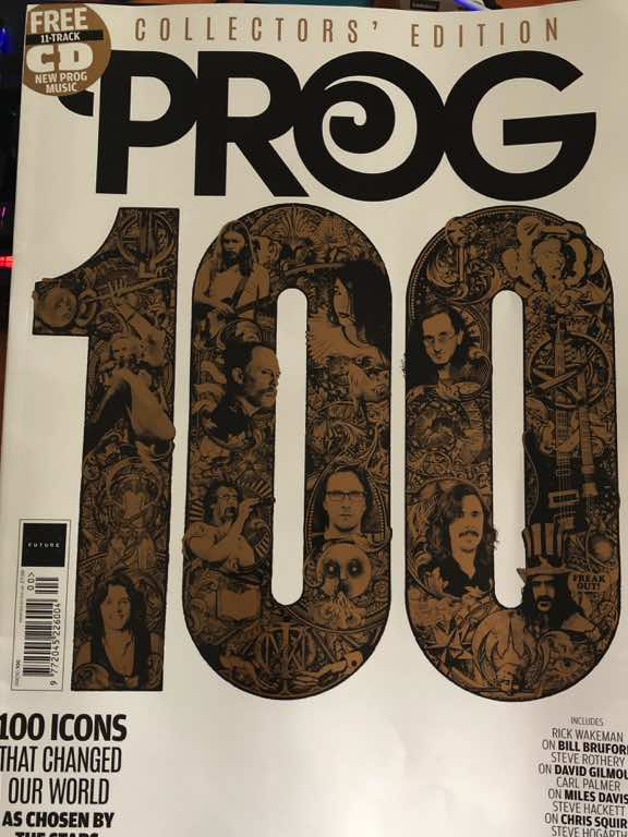 Photo of the 100th issue of Prog Magazine