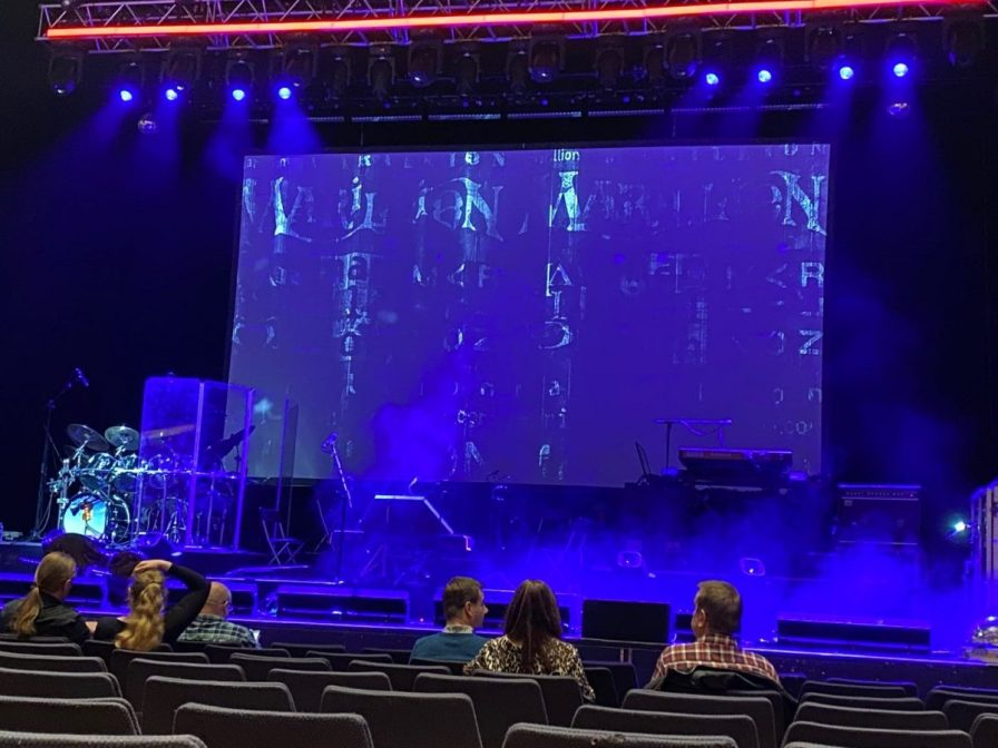 Waiting for Marillion to take to the stage at Royal Concert Hall, Glasgow
