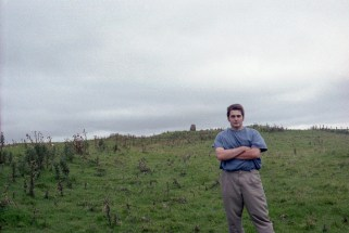 A selfie while lost, also the year I stopped wearing pleated pants (1999)