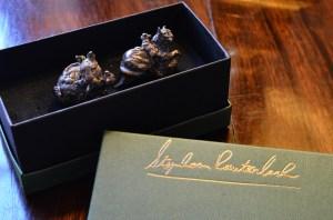 Bronze miniatures,sculptures,leopard Japanese Netsuke, Stephen Rautenbach