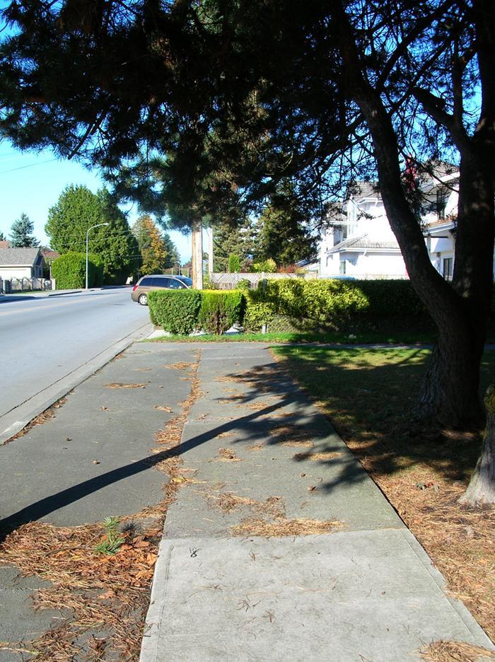 No 4 Road sidewalk