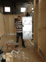 """Rohan is stariing to install all the 3"""" insulation board"""