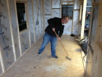 Simon cleaning up at the end of the weekend. What a star