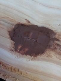filling cedar planks for ceilng