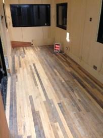 The floor BEFORE sanding