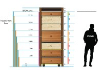 Design for swivelling cupboard / room divider