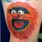 "Tattoo of the muppet ""Animal"""