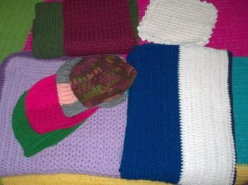 Lap blankets & hats donated to Stephenson Nursing Center