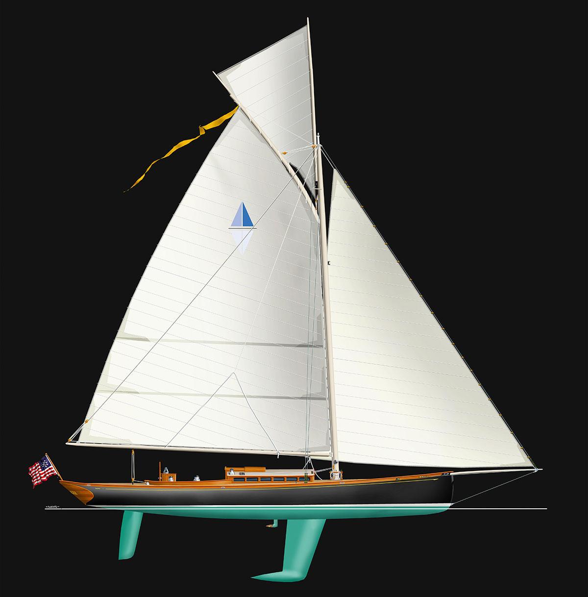 Stephens Waring Yacht Design Beaujolais
