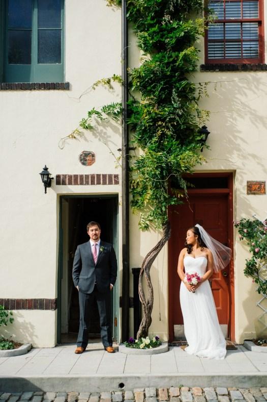 Washington mews wedding portrait