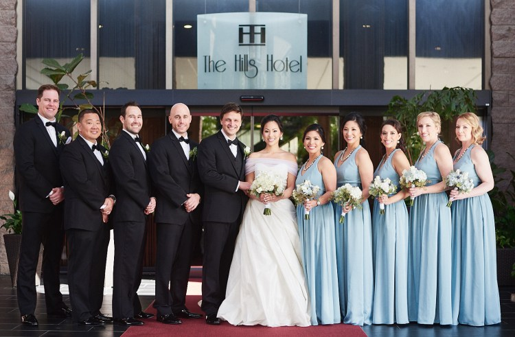 Wedding bridal party Hills Hotel Laguna Hills