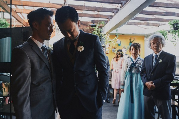Groomsmen and groom W Hollywood