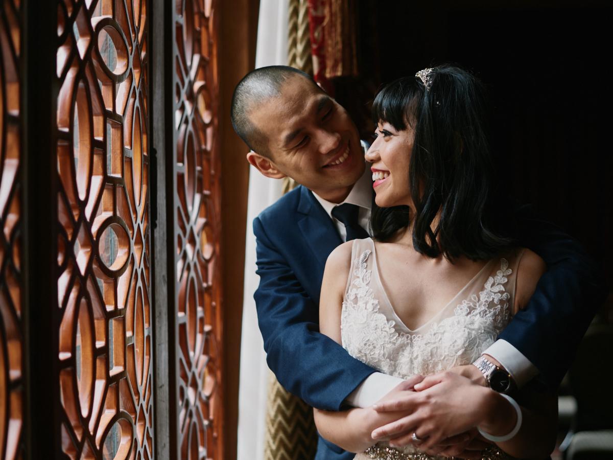 Los Angeles Athletic Club wedding portrait