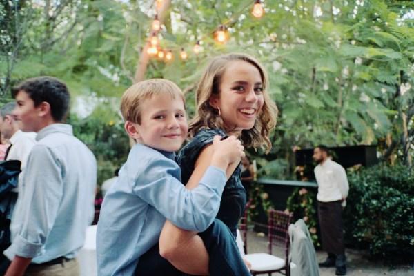 Sunset Marquis wedding reception West Hollywood Portra 800 Olympus mju-ii
