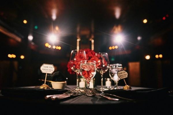 Cicada Club wedding sweetheart table