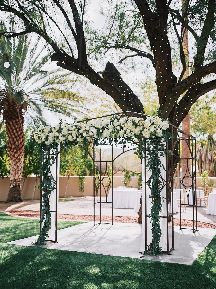 Secret Garden Event Center wedding ceremony site