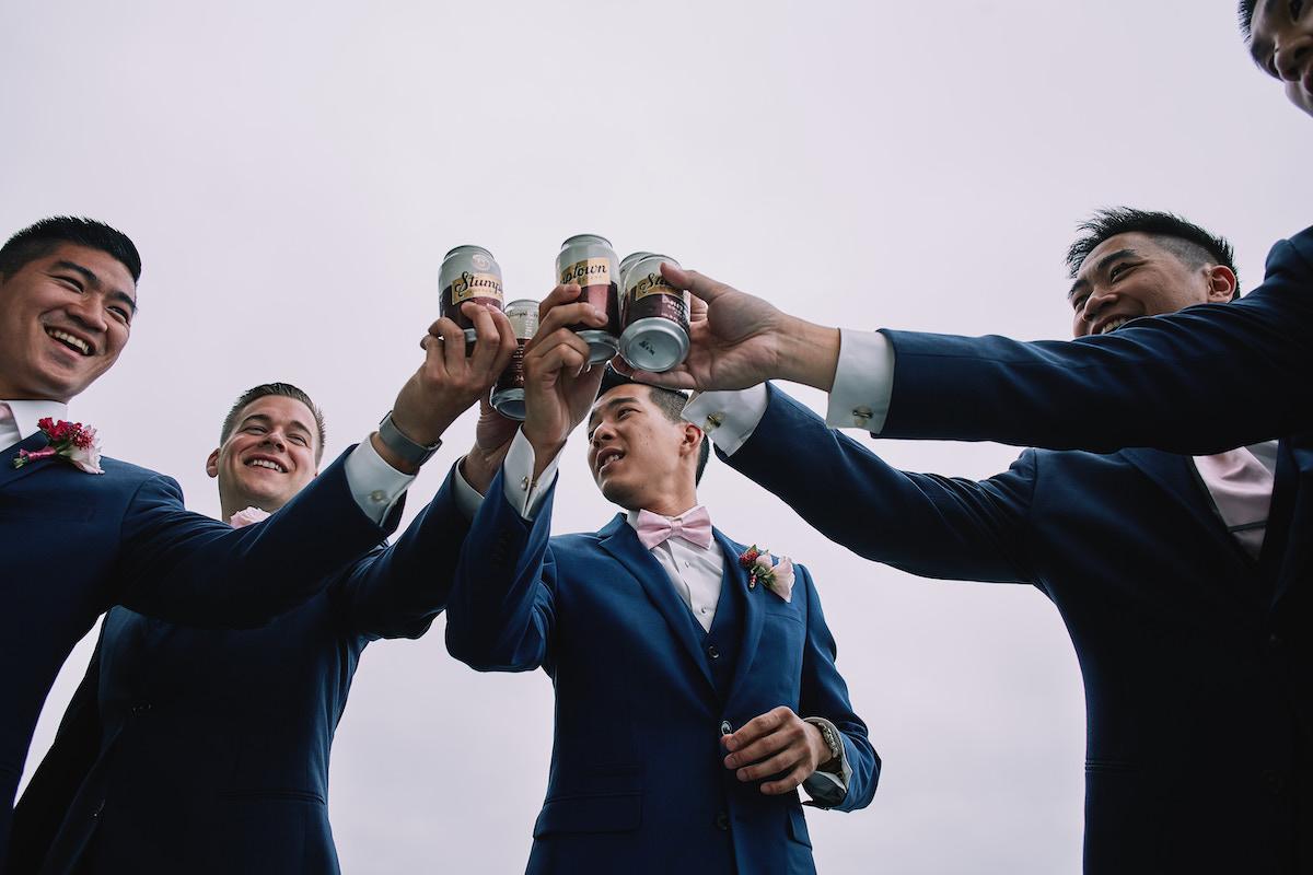 Salvation Army Crestmont College wedding groomsmen