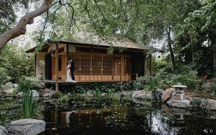 wedding portrait storrier stearns japanese garden pasadena