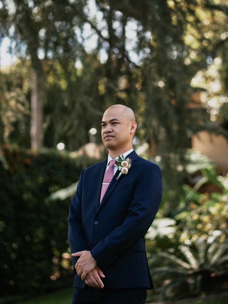 Altadena Country Club wedding groom portrait