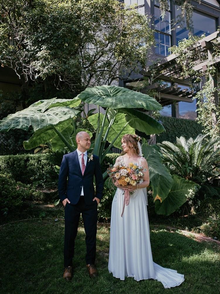 Altadena Country Club wedding portrait