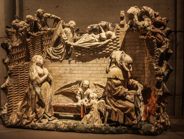 Bas-Relief Nativity